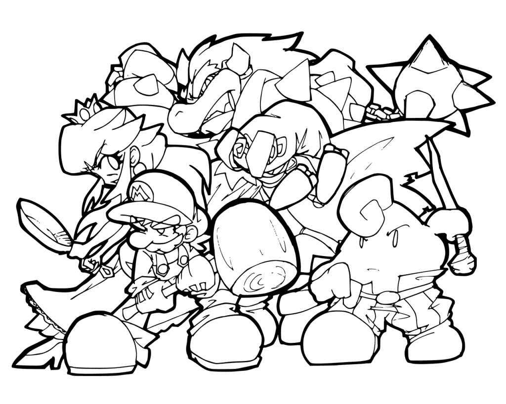 Bowser Coloring Pages Super mario coloring pages