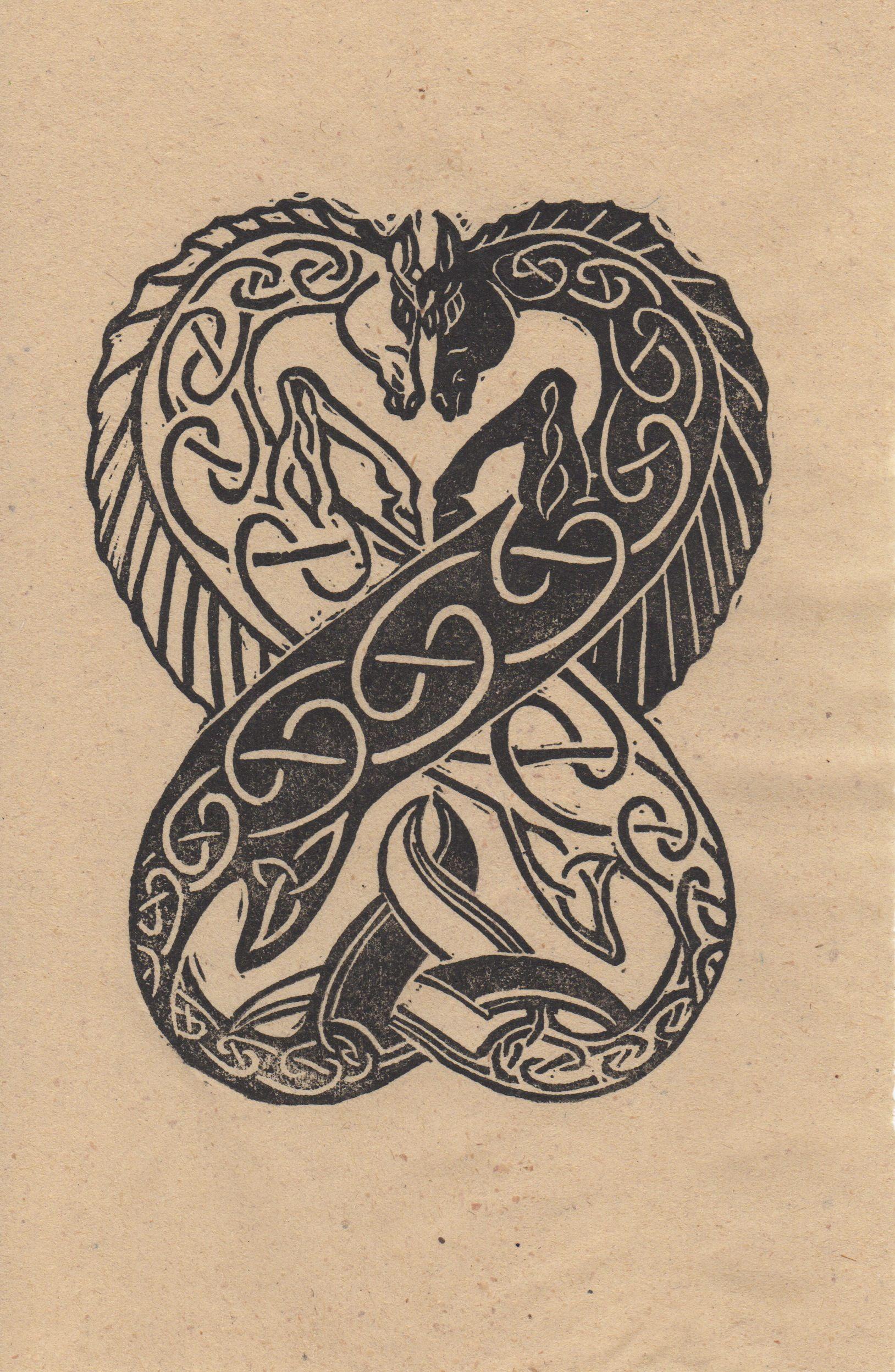 Celtic Seahorse Tattoo Books And Scribal
