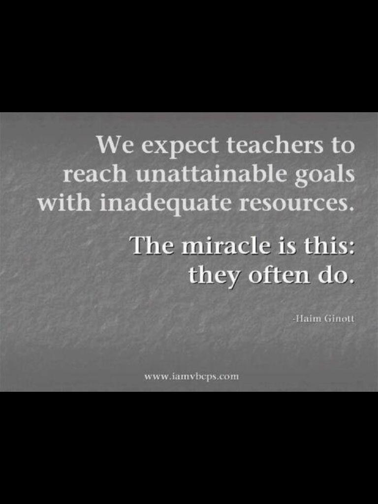 The importance of teachers