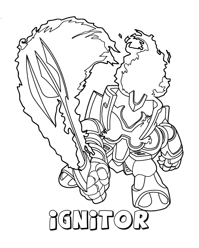 Skylanders Giants Chop Chop coloring page | Free Printable ... | 837x670