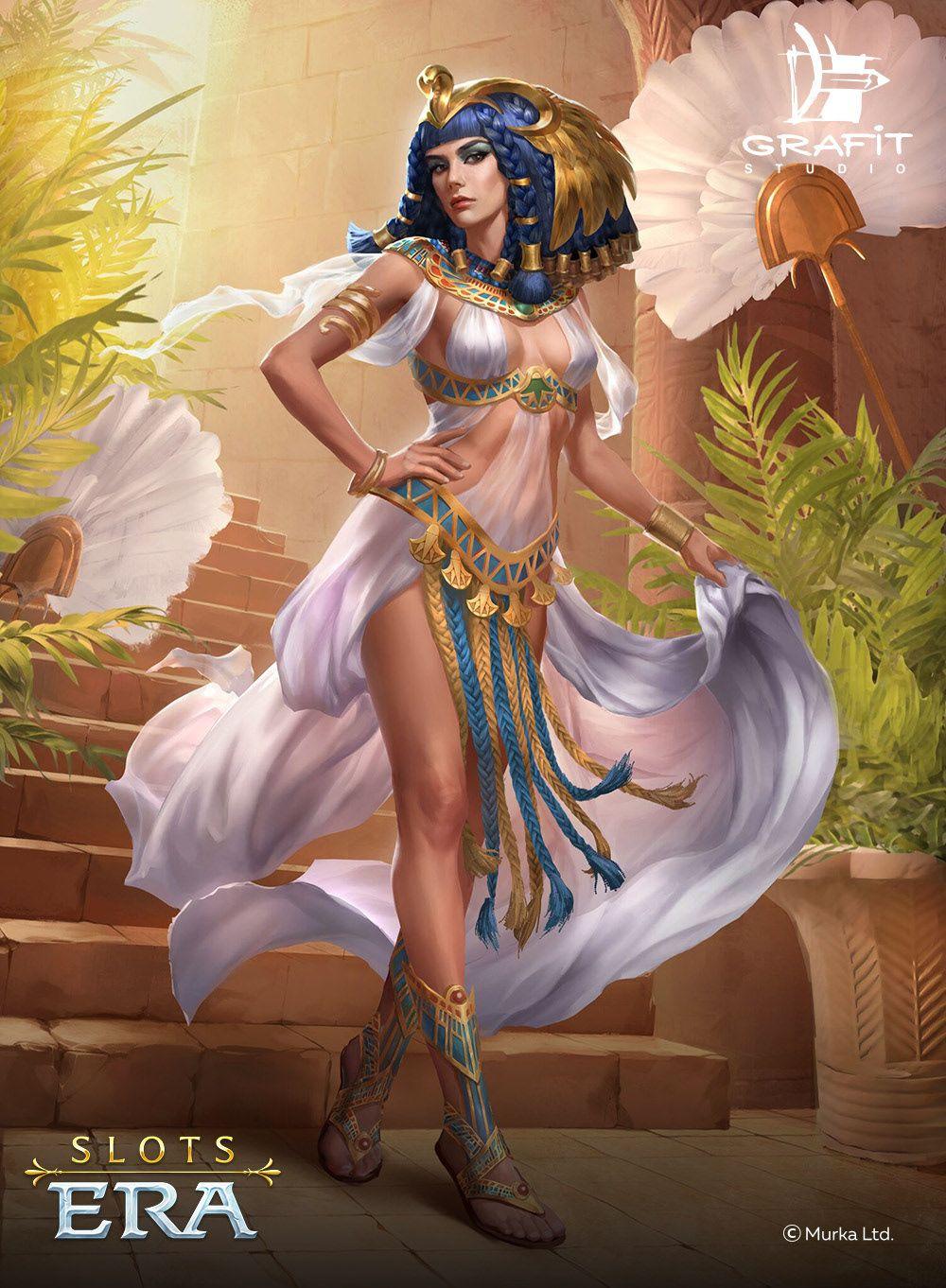 Murka Slots Era On Behance Cleopatra Fantasy Girl