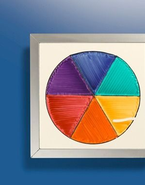 Learn All About Complementary Colors With A Geometric Color Wheel And Crayola Markers
