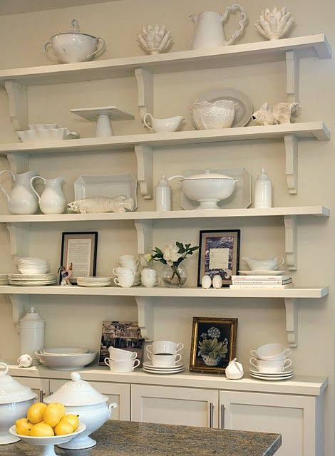 Ironstone On White Things I Love Pinterest Offene Regale Und Regal