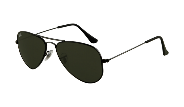 Black Aviator Ray Ban Sunglasses