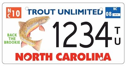 North Carolina Trout Unlimited Plate Trout Unlimited License