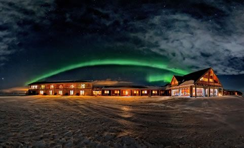 Hotel Ranga In Iceland See More Here Http Www Northernlightsiceland Breathtaking Northern Lights At
