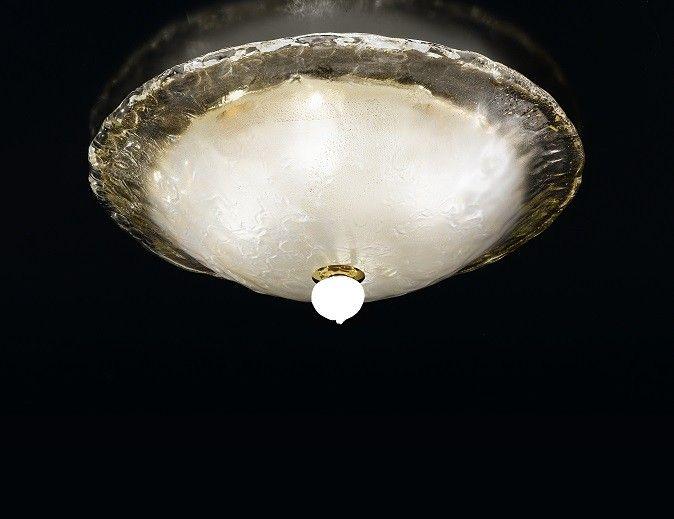 Plafoniere Vetro Di Murano : Corolla r la murrina plafoniera in vetro di murano pervinca