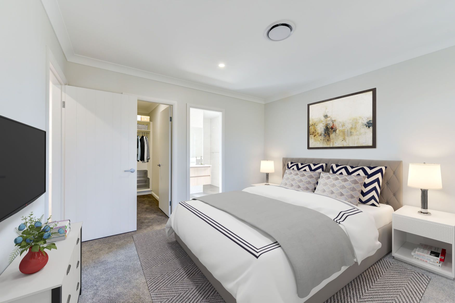 There's nothing quite like relaxing after a long week at work! ❤ #davidreidhomesaus #customhomebuilders #customdesigned #bedroominspiration #dreamhome #relax #workweekdone #custombuilders
