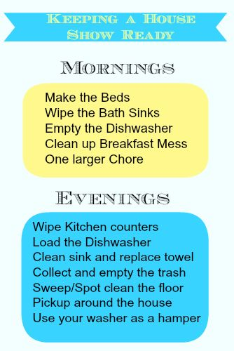 {Noting Grace}: | Keeping a House Show Ready Daily Cleaning Schedule