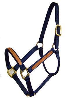 NEW TACK! HUNTER GREEN Triple Ply Nylon Western Horse Halter w// Brass Hardware!
