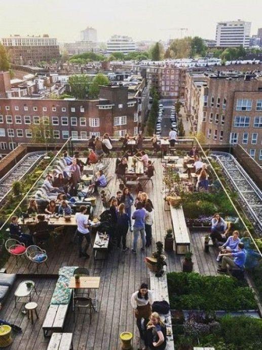 Pin De Clau Cortez En Rooftop Restaurant Design Bar Terraza Paisajismo Moderno Terraza Verde