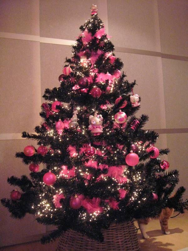 Nice Holiday Tree Decorating Ideas Part - 4: *profoundly Apologizes In Advance* :3 Hello Kitty Christmas Tree Decorating  Idea 15 Creative