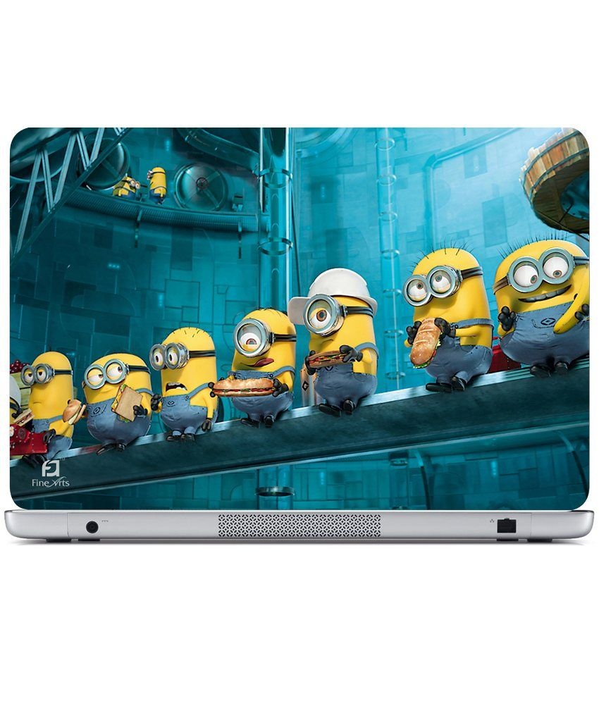 Finearts laptop skin minion food minions wallpaper
