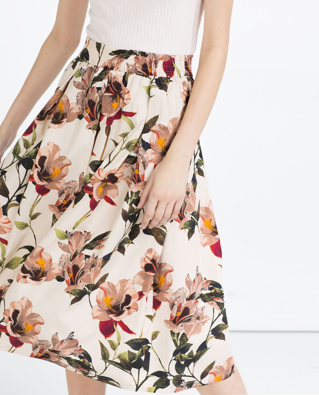 b38c0c4992 Image 3 of FLORAL PRINT MIDI SKIRT from Zara | MATERIAL HAPPINESS ...