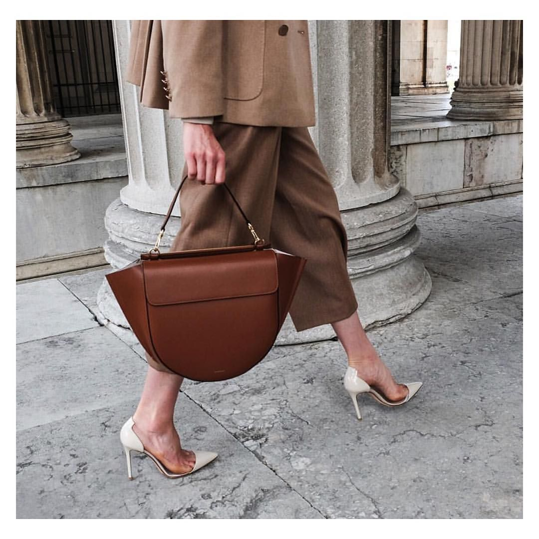 6e36b580a Thank you @mytheresa.com 💛 for sharing the hortensia bag in big #Wandler  #colortan