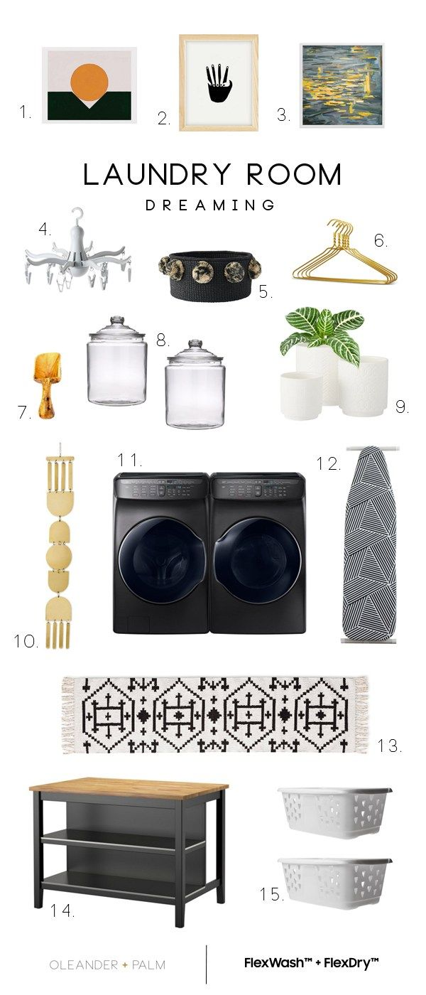 Laundry Room Dreaming  Samsung FlexWash + FlexDry #ad