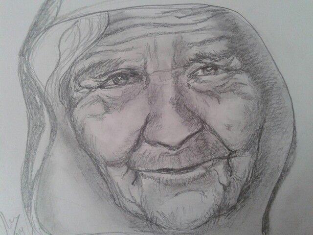 Ejercicio De Rostro De Un Anciano Anciano Dibujo Dibujos Diseno De Personajes
