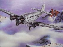 Wandteller Bild Ju 52 Flugzeug SMCS shabby chic