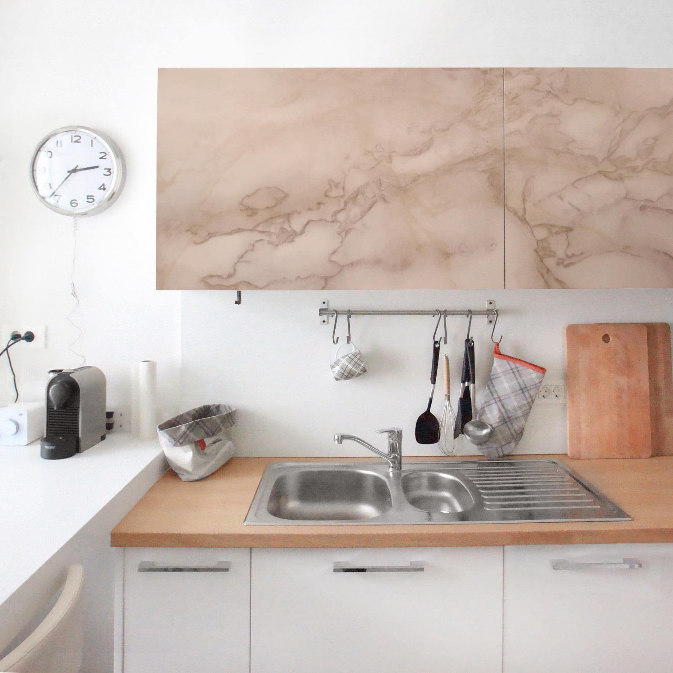 Carta Adesiva per Mobili - Marble Look Gray Brown nel 2019 | Carta ...