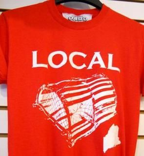 Show everyone you're a local! | Tee from Old Port Card Works, Portland, ME