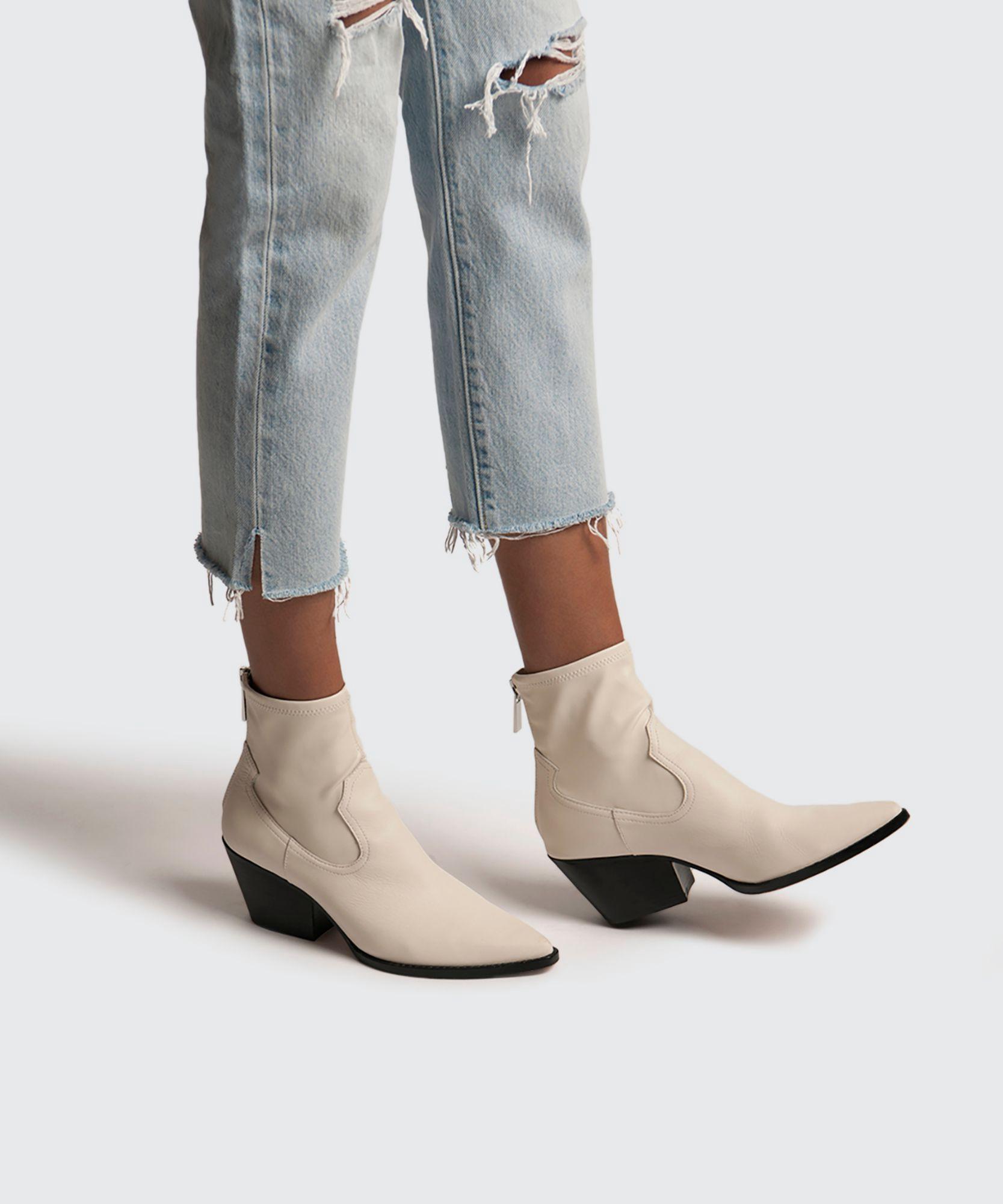 dolce vita white boots