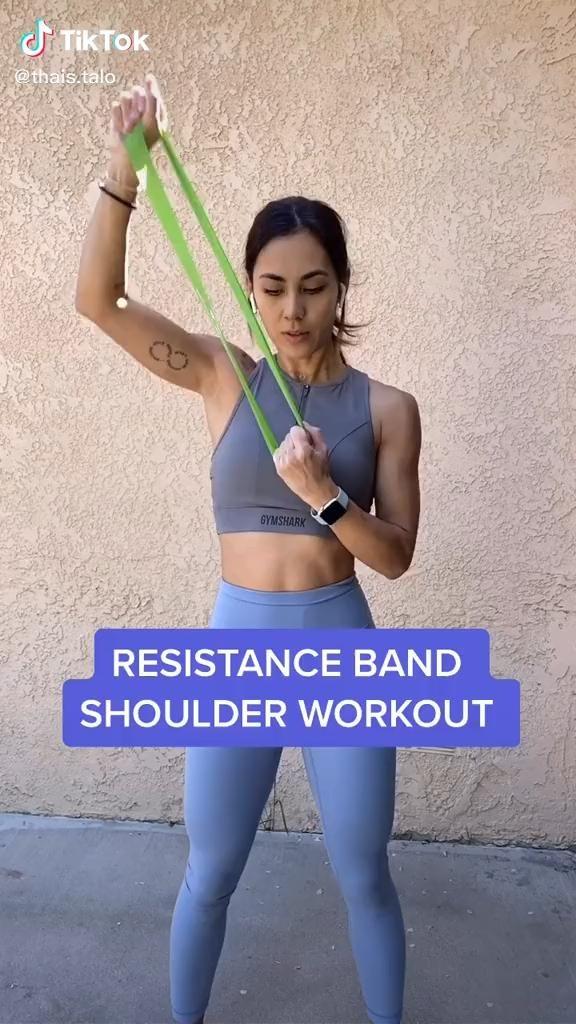 Resistance Band Shoulder Workout