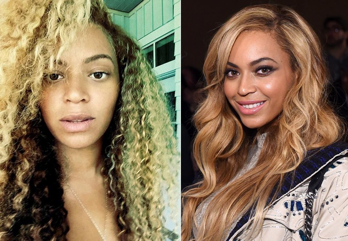 Image result for Beautiful Celebs Who Look VERY Different In Real Life Beyonce