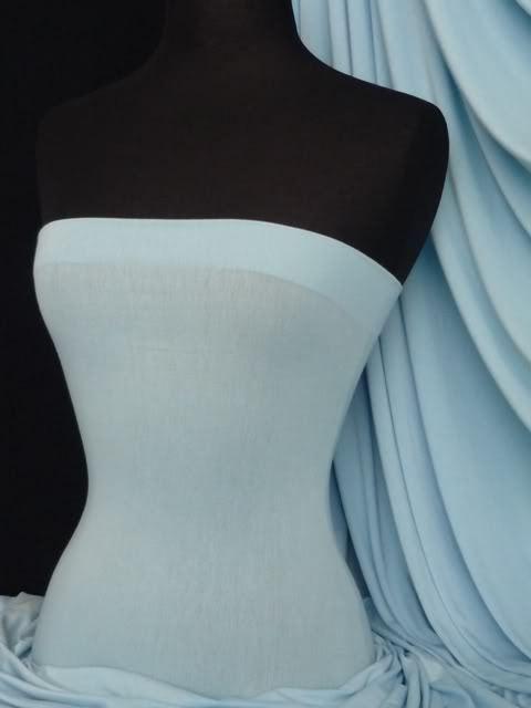 Sky blue viscose cotton stretch jersey lycra fabric
