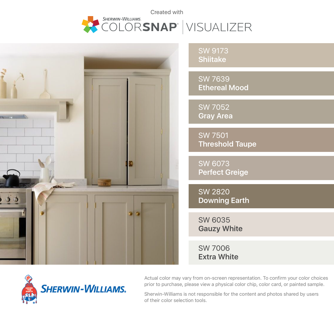 I Found These Colors With Colorsnap Visualizer For Iphone By Sherwin Williams Shiitake Sw Basement Laundry Room Makeover Taupe Walls Taupe Kitchen Cabinets