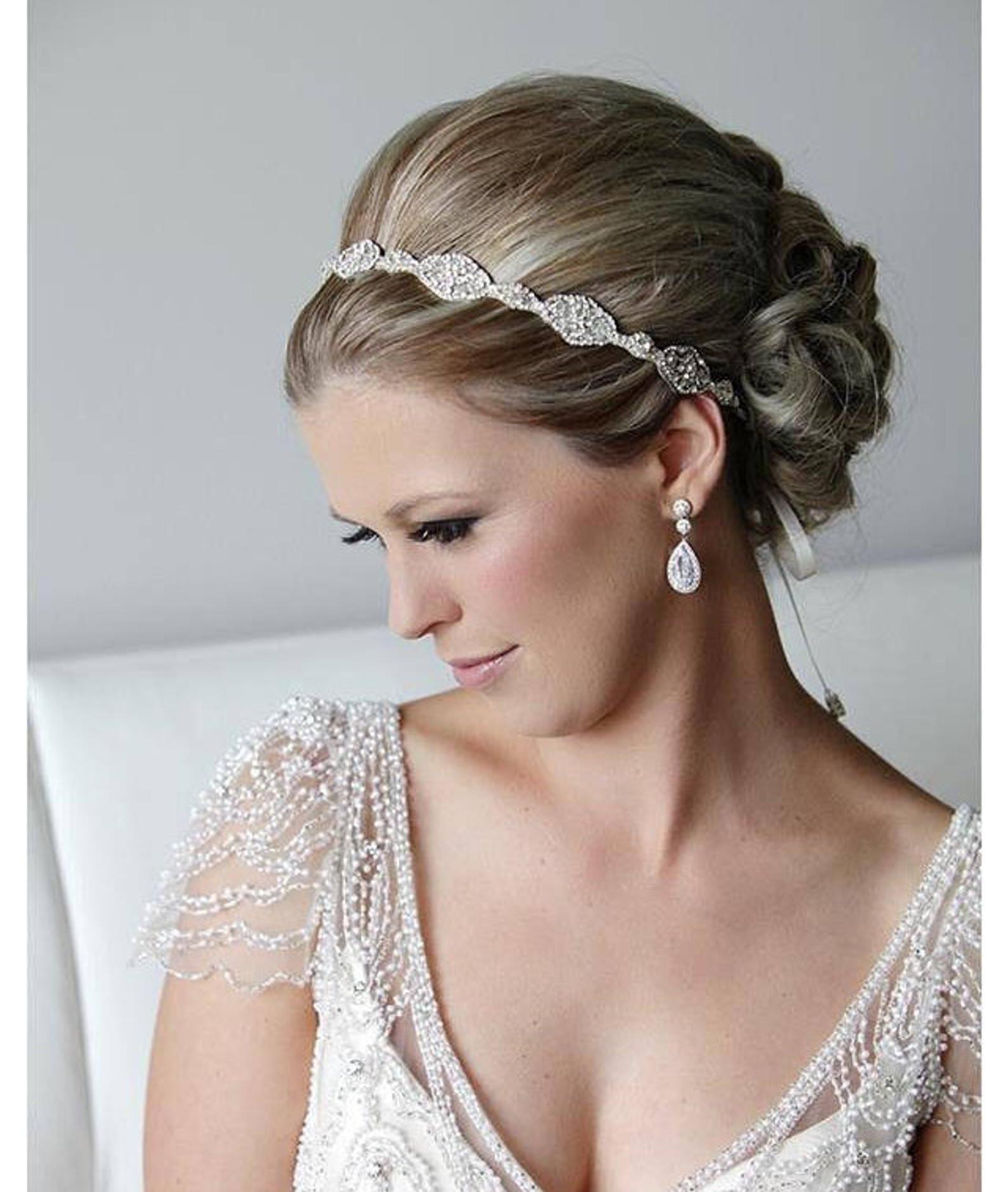 bridal headband bridal ribbon headband wedding hair | etsy