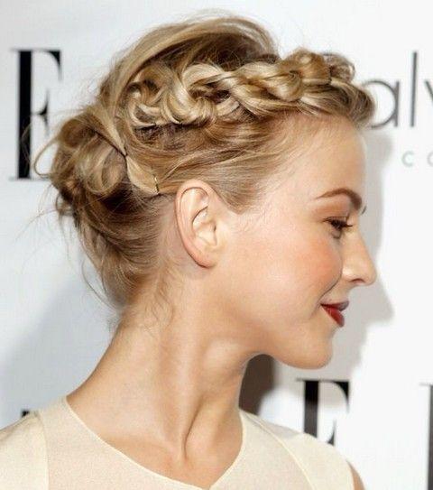 Julianne Hough Hairstyles: Pretty Braided Updo