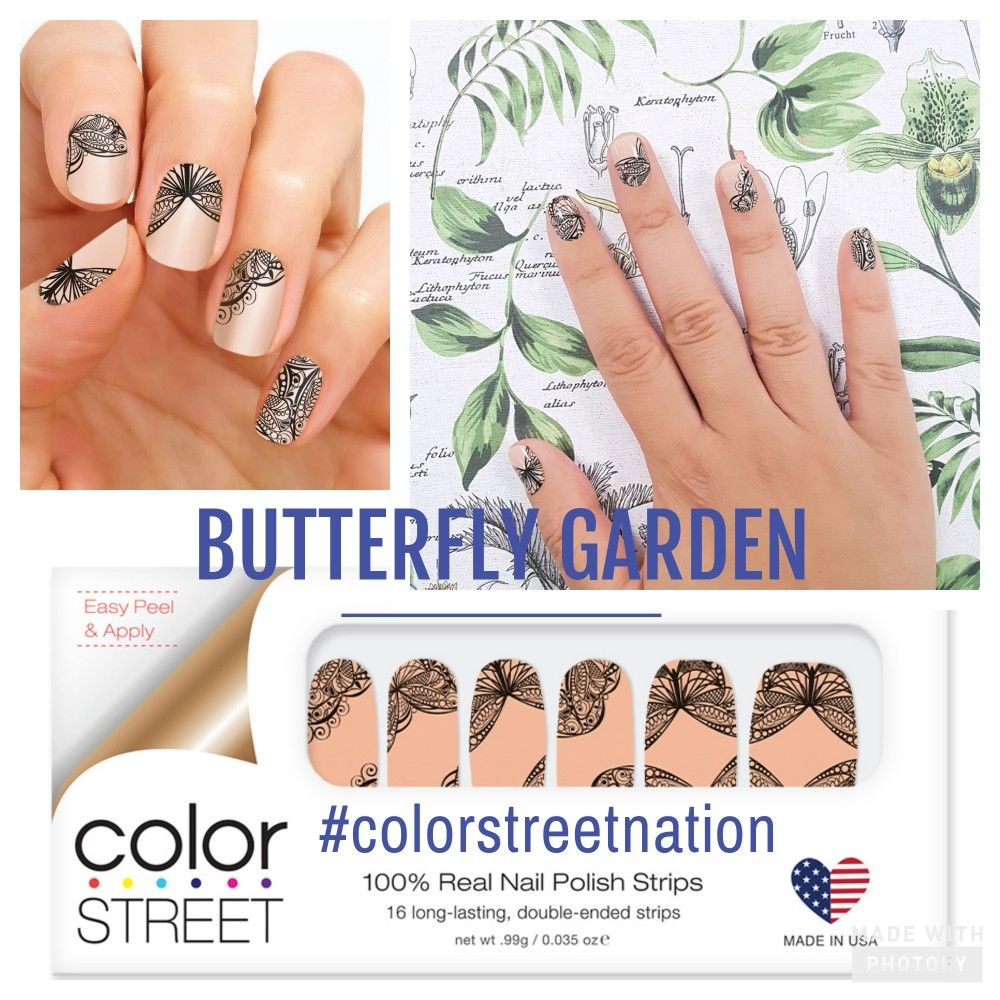 Butterfly Garden: Treat your nails with this elegant butterfly print ...