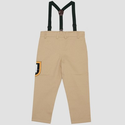 715b985c4228 Toddler Boys  Harry Potter Slytherin Pants with Suspenders - Khaki ...