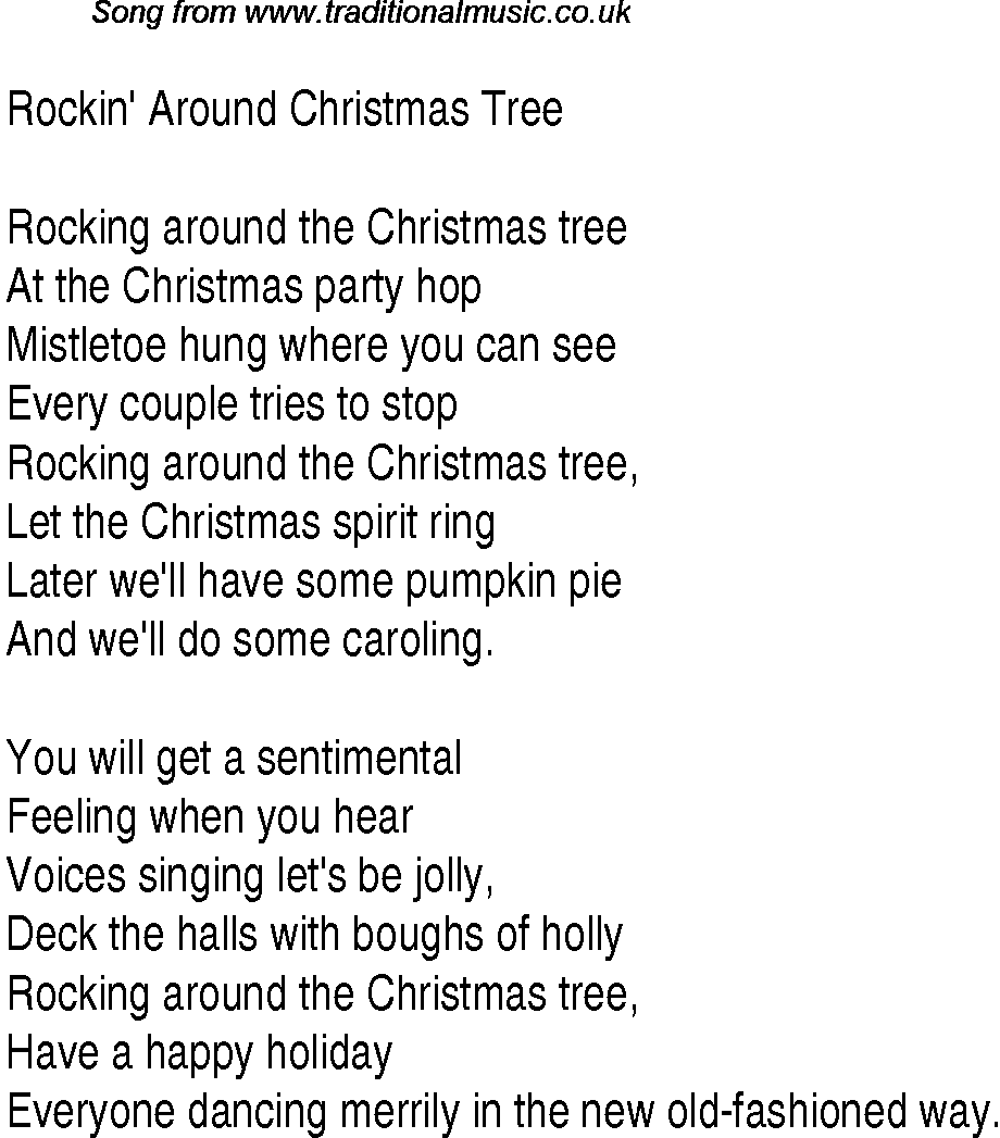 Walking Around Christmas Tree Lyrics