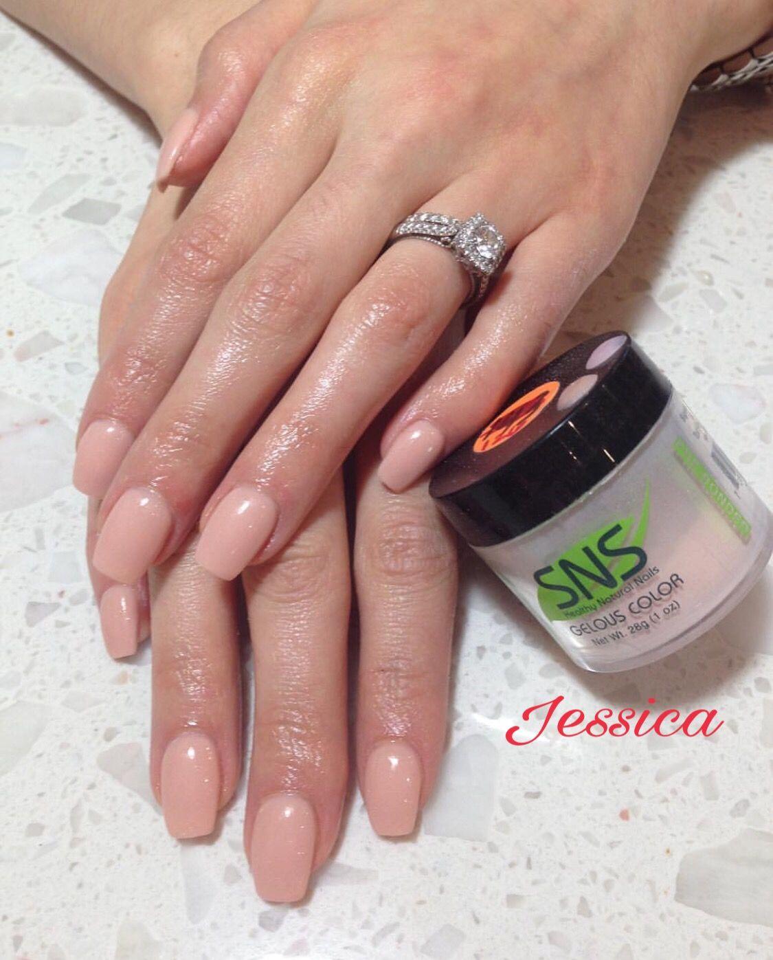 Nail Salon Dipping Powder: Nude Color SNS Nails !