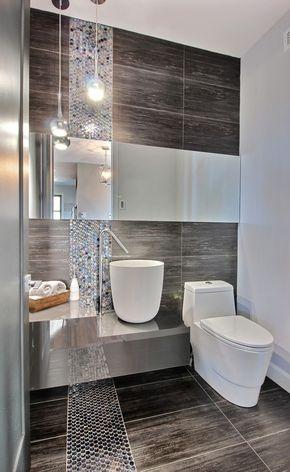 Small but stylish bathroom Love the tiles #bathroom koupelny