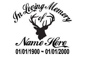 Details about In Loving Memory Of - Hunter Deer Sticker ...