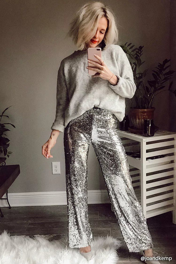 33074af8 Product Name:Sequin Wide-Leg Pants, Category:CLEARANCE_ZERO, Price:34.9