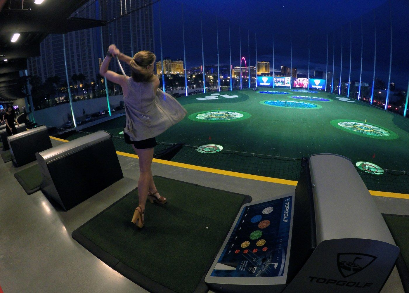 Topgolf Las Vegas Is The World S Most Insane Driving Range Las Vegas Golf Golf Driving Range Golf Courses
