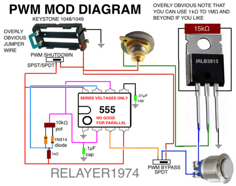motley mods box mod wiring diagrams led button switch parallel rh pinterest com Box Wiring Pot Diagram MOS Fetmod DIY Box Mod E-Cig