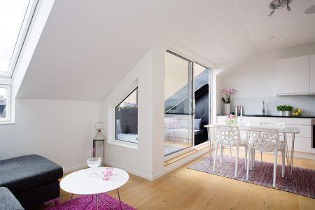 45 m² diáfanos con terraza Dachfenster, Ausbau und Anbau - dachfenster balkon cabrio interieur
