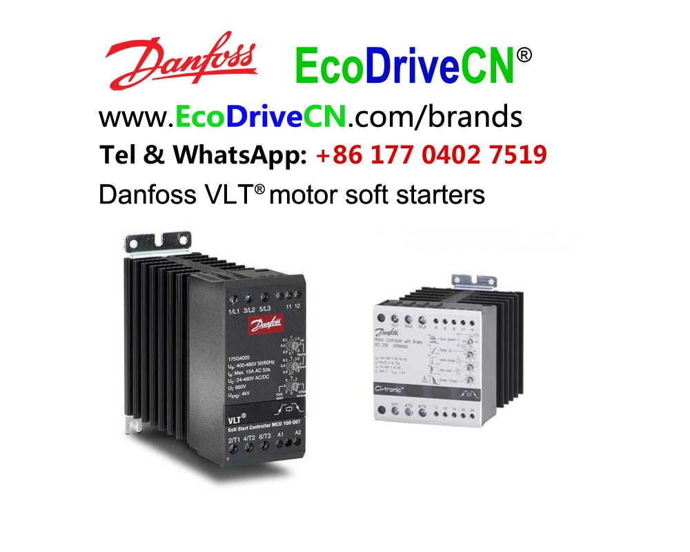 For Danfoss motor soft starters, easy connectivity to