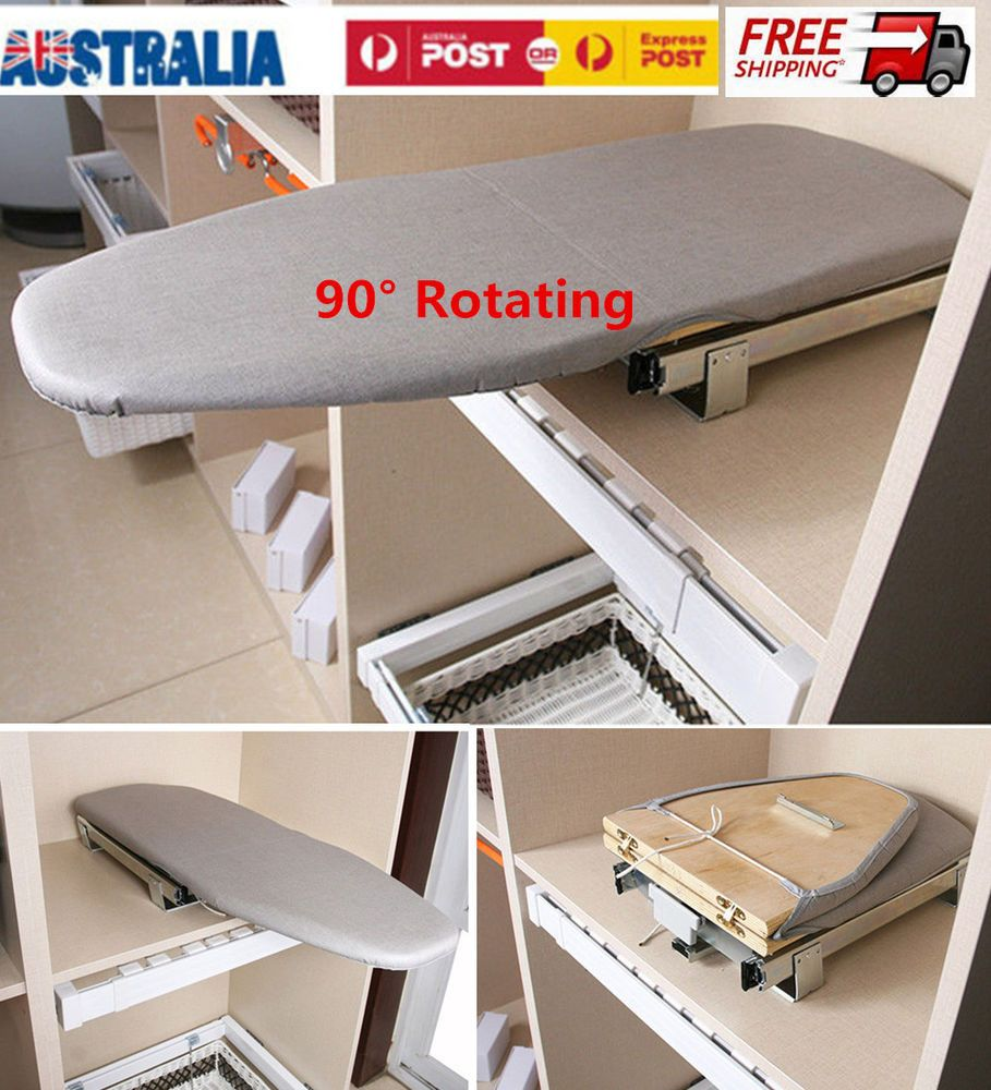 Pull Out Slide Out Rotary Ironing Board Carbinet Drawer Mounted Convenient Style Folding Ironing Boards Ironing Board Mounted Ironing Boards
