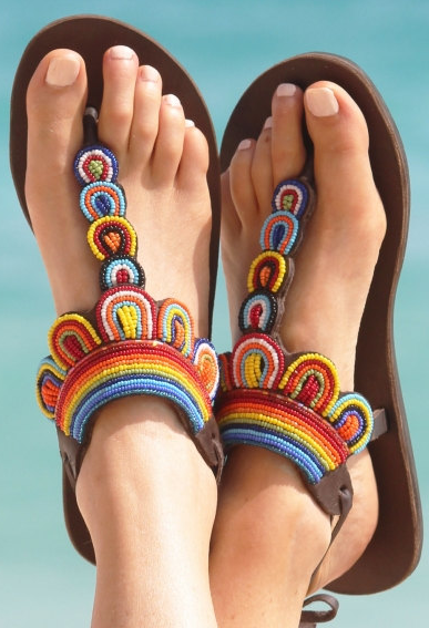 321fa9585fefd rainbow embroidered thong sandals