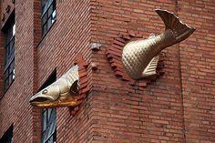 4. Escultura al Salmón, Portland Oregón, EE.UU. Esculturas creativas más importantes del mundo.