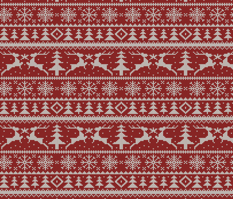 Knit Christmas Sweater Id Designs Spoonflower Spoonflower Fabric Christmas Knitting Spoonflower