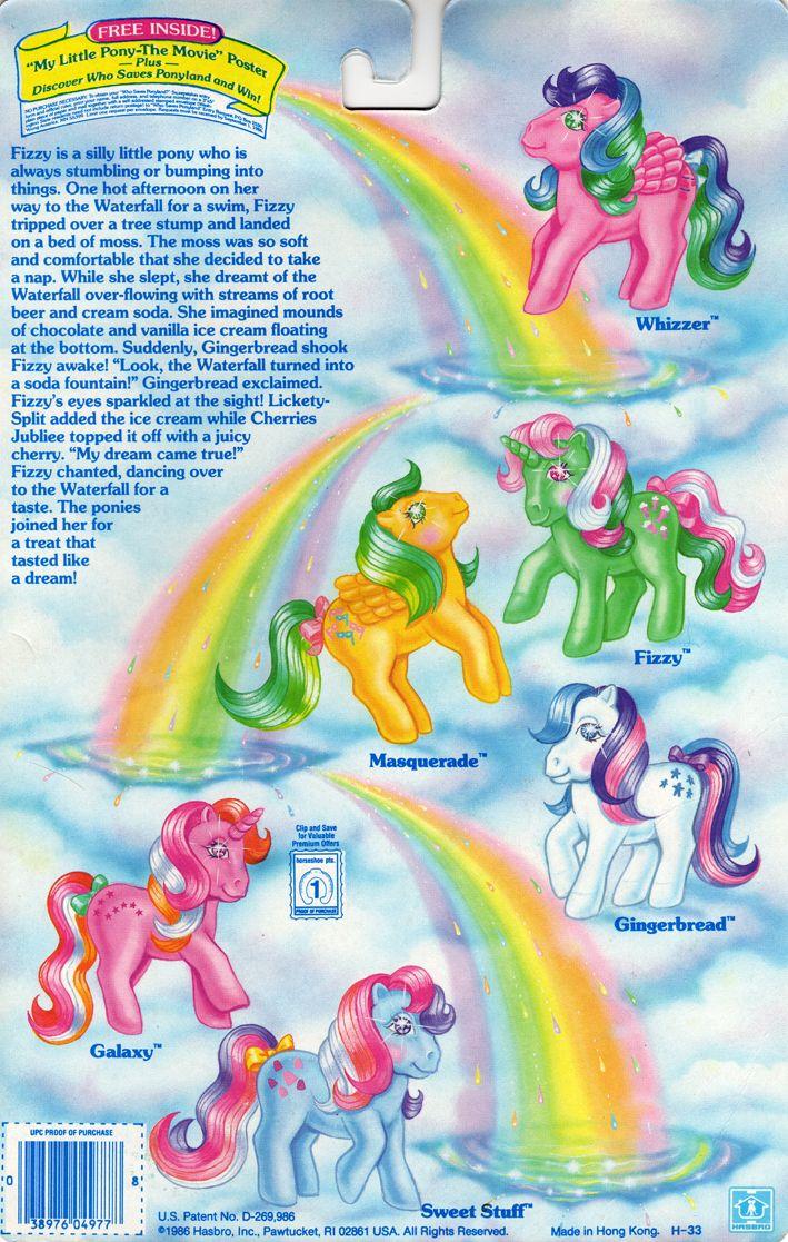 My Little Pony Twinke Eyes Backcard