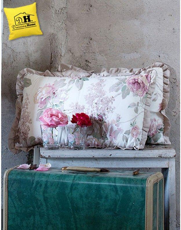 Cuscini Arredo Rettangolari.Cuscino Arredo Shabby Chic Rettangolare Jardin Collection Blanc