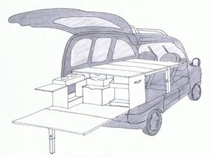 Amenagement De Voitures Pour Ludospaces Monospaces Fourgons Utilitaires Ou 4x4 Kangoo Amenage Fourgon Interieur Camion