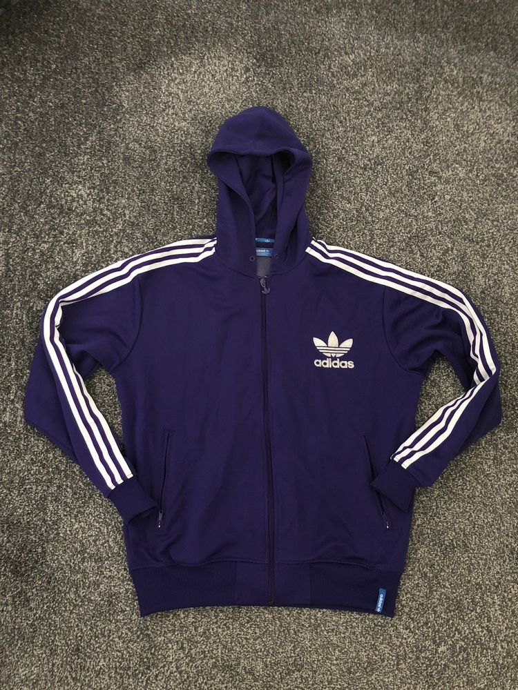 b69ba8301ddb Adidas Originals Mens Purple Full Zip Hoodie Size XL Trefoil Firebird   fashion  clothing  shoes  accessories  mensclothing  activewear (ebay link)